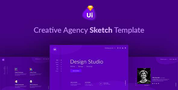 Design Studio - Creative Agency Sketch Template            TFx Shaquille Jimi