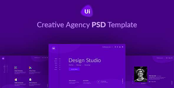 Design Studio - Creative Agency PSD Template            TFx Bristol Dirk
