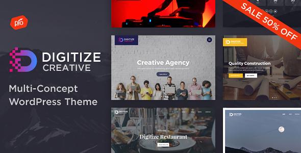Digitize - Creative Multi-Concept Theme - Portfolio Creative TFx Lenox Fred