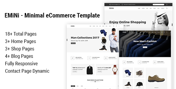 EMiNi - Minimal eCommerce HTML Template            TFx Gore Keiran