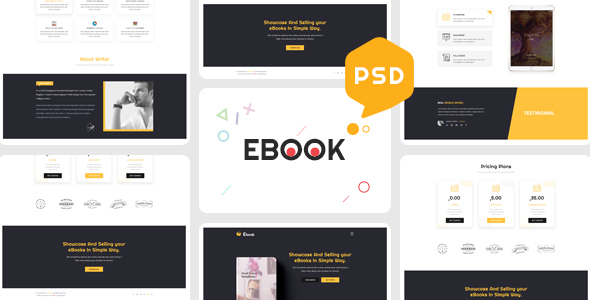 Ebooks - One Page Psd Template - Creative PSD Templates TFx Basil Chad