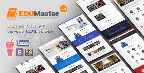 EduMaster – Education HTML Template            TFx Reginald Boris