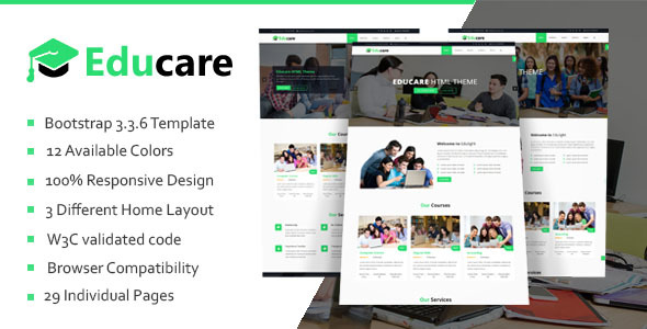 Educare - Education HTML Template - Business Corporate TFx Darion Antiman