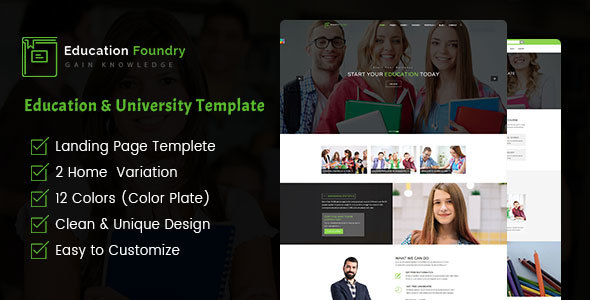 Education Foundry – Academy & Training Courses HTML5 Template            TFx Syd Tate