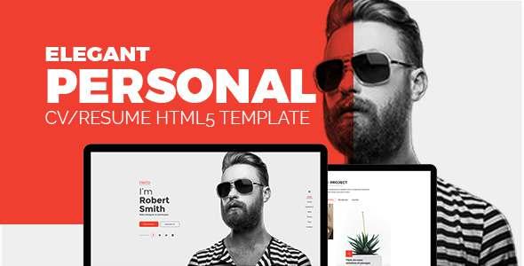 Elegant - Personal CV/Resume Portfolio HTML5 Template            TFx Oral Lawrie