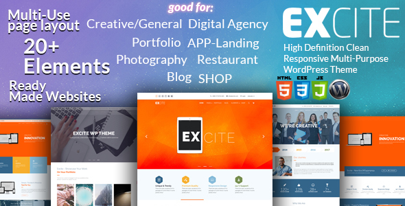 Excite - Clean Responsive Multi-Purpose WordPress Theme            TFx Osbourne Raynard