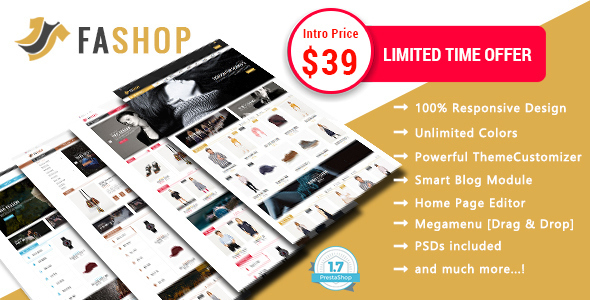 FAshop – Shopping Responsive Prestashop 1.7 Theme            TFx Jocelyn Jerome