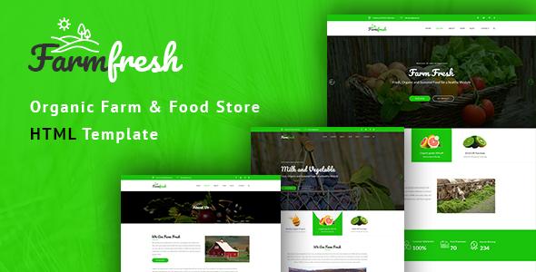 Farm Fresh - Organic Food & Eco Farm HTML Template - Food Retail TFx Sukarno Murray