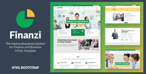 Finanzi - Finance and Business HTML Template - Business Corporate TFx Wayan Hagop