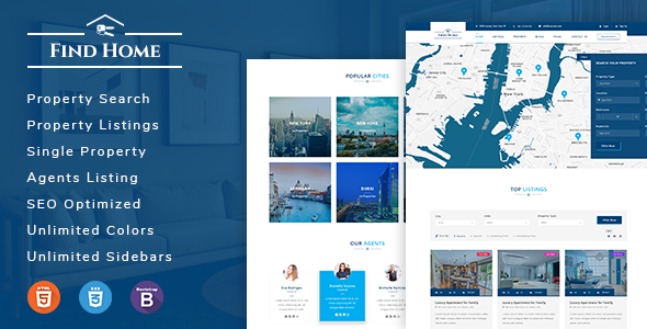 Findhome - Real Estate HTML Template - Business Corporate TFx Curtis Maximillian