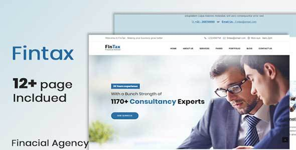 Fintax-Multipurpose Financial template - Technology Site Templates TFx Ethan Surya