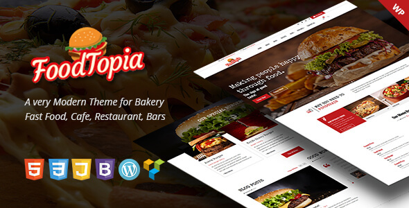 FoodTopia WordPress Theme for Fast Food Restaurants            TFx Galen Wilburn