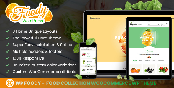 Foody - Fast food & Organic Food Woocommerce WordPress Theme - Food Retail TFx Jayson Ujarak