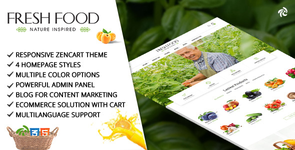 Fresh Food – Zencart Template for Organic Food/Fruit/Vegetables            TFx Vincent Jaymes