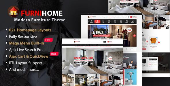 FurniHome - Furniture WooCommerce WordPress Theme - eCommerce WordPress TFx Cavan Kian