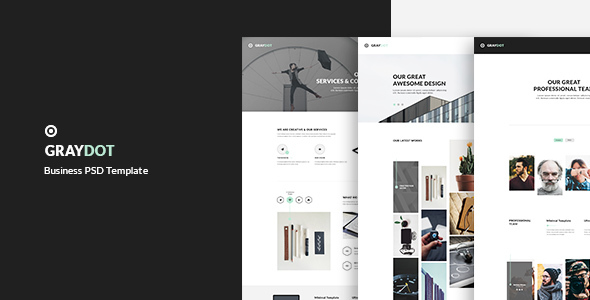GRAYDOT – Business PSD Template            TFx Vern Jamison