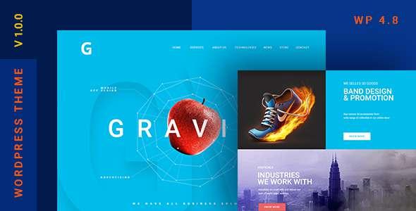 Gravitify | Multipurpose Business WordPress Theme            TFx Dwayne Uhah