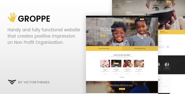 Groppe - Nonprofit WordPress Theme            TFx Wibowo Caden