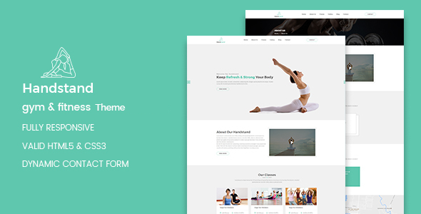 Handstand - Gym & Fitness WordPress Theme            TFx Brent Bill