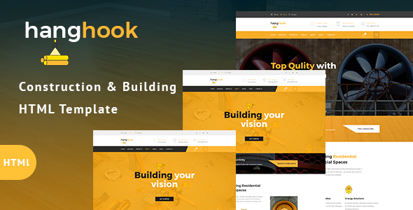 Hanghook – Construction & Building HTML Template            TFx Yuki Yancy
