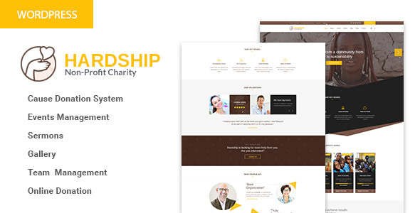 HardShip - Charity/Fundraising WordPress Theme            TFx Audley Denver