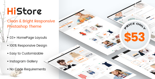 HiStore - Clean and Bright Responsive PrestaShop 1.7 Theme - eCommerce  TFx Zachariah Terance