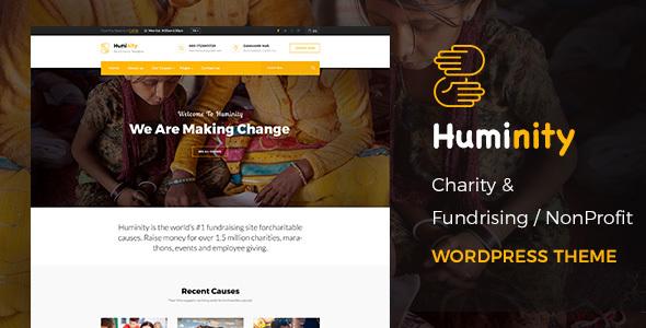 Huminity- Charity/Fundraising WordPress Theme            TFx Rhett Lamont