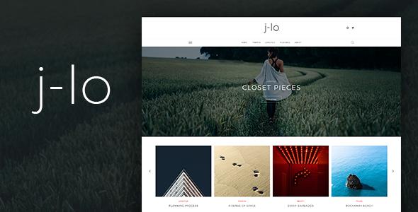 J-lo – Elegant Blogging PSD Template            TFx Kim Sahak