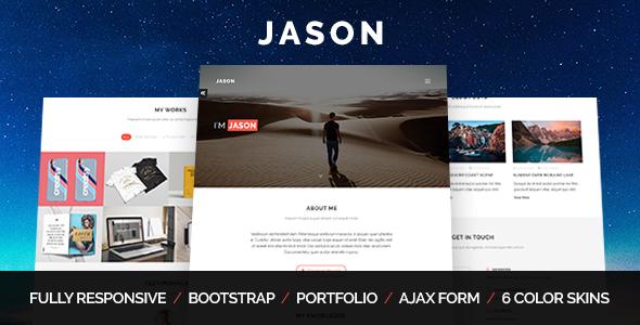 Jason - Personal Portfolio Template            TFx Harve Brett