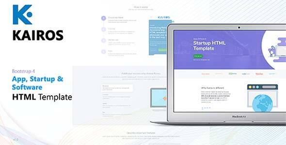 Kairos - App, Startup & Software HTML Template            TFx Aidan Lucky