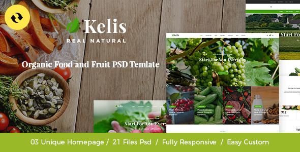 Kelis - Organic Food And Fruit Store eCommerce Shopify Theme            TFx Carter Zander