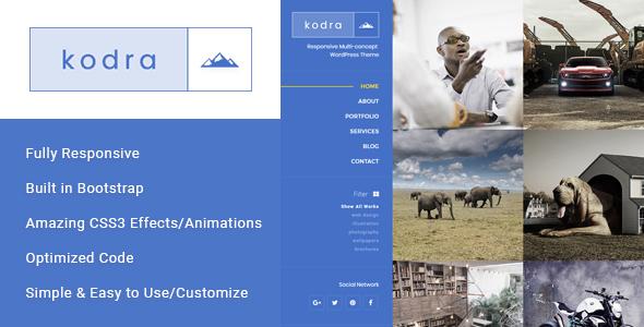 Kodra - Full Screen Portfolio HTML Template - Photography Creative TFx Terrance Max