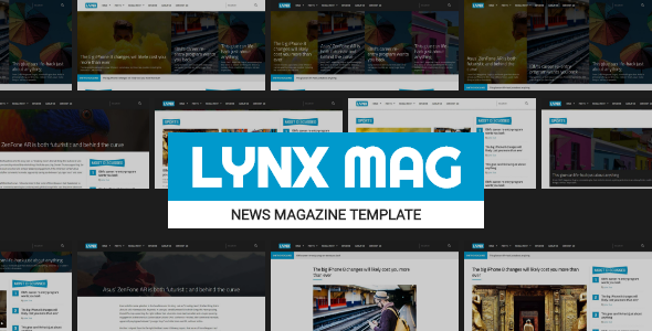 LYNX - Responsive News Magazine Template - Entertainment Site Templates TFx Harland Jeptha