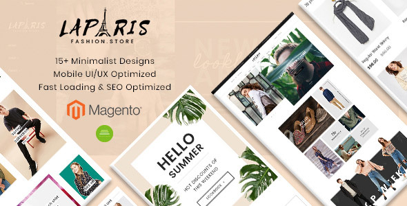 LaParis Simple Creative Premium Magento Theme            TFx Art Genghis