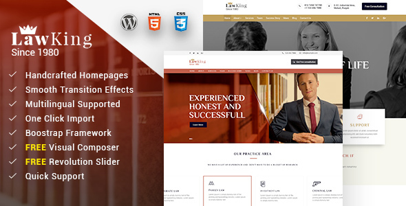 Lawking - Lawyer WordPress Theme            TFx Kolby Garry