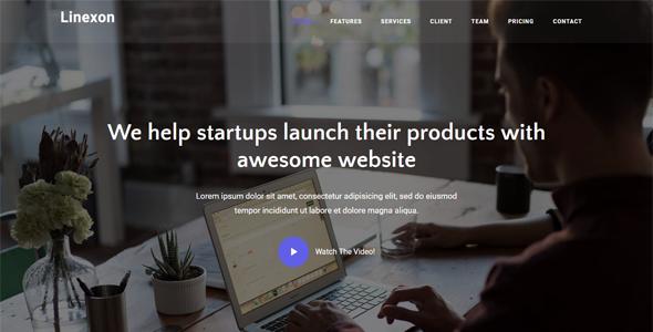 Linexon – Responsive Bootstrap 4 Landing Page Template            TFx Jeffrey Maximillian