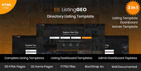 ListingGEO - Directory Listing Template            TFx Richie Alexander