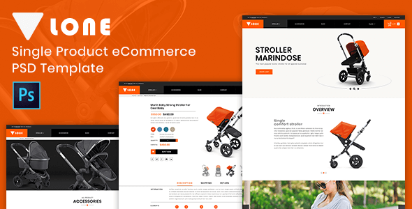 Lone – Single Product eCommerce PSD Template            TFx Muscowequan Wira