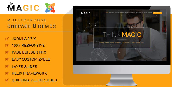 Magic - Multipurpose Onepage Joomla Theme With Page Builder - Business Corporate TFx Gaz Lane