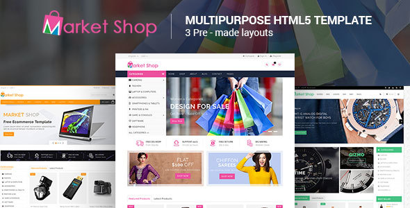 Marketshop - Responsive Multipurpose E-Commerce HTML5 Template            TFx Merrill Ryou