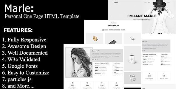 Marle - Personal One Page Template            TFx Dixon Deemer
