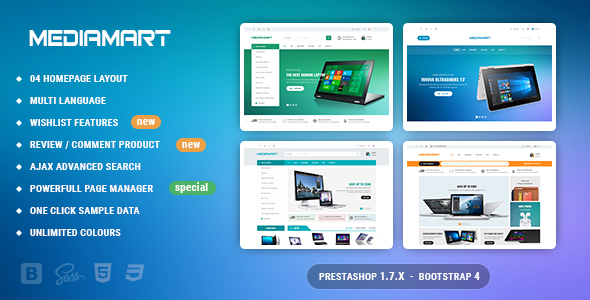 Mediamart - Facilitate Responsive PrestaShop 1.7 For Hi-Tech, Mobile, Electronic            TFx Suleiman Mack