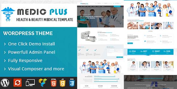 MedicPlus-Medical Theme - Business Corporate TFx Catahecassa Tracey