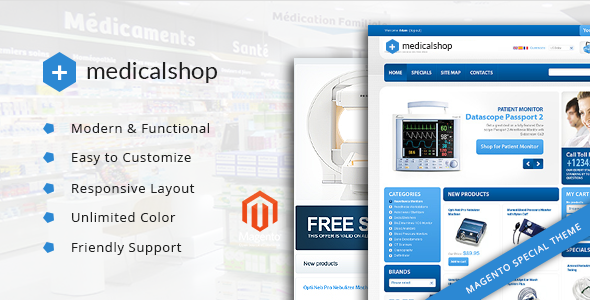 Medical Shop – Pharmacy and Medical Magento Responsive Theme            TFx Carlisle Brayden