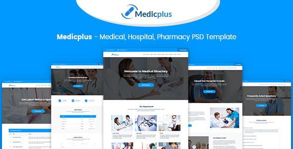 Medicplus - Medical, Hospital, Pharmacy PSD Template - PSD Templates  TFx Montague Jerry