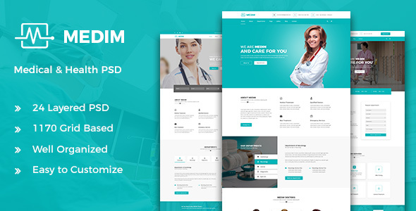 Medim - Medical and  Health PSD Template - Retail PSD Templates TFx Loren Geordie