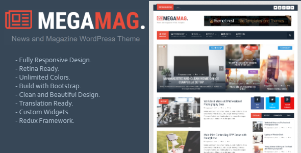 MegaMag - News and Magazine WordPress Theme - News / Editorial Blog / Magazine TFx Kenton Rikuto