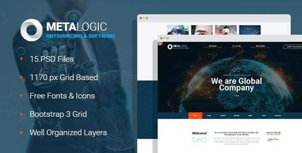 MetaLogic - It Outsourcing & Software Development Company PSD Template - Software Technology TFx Dax Yori