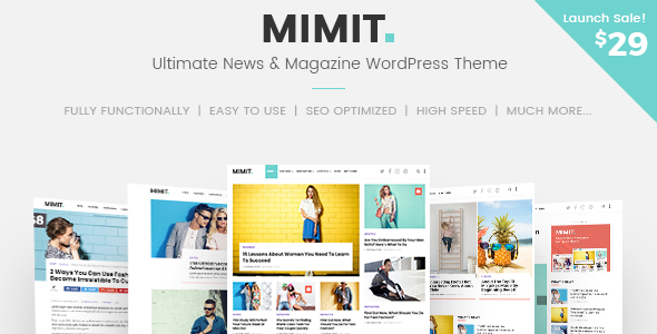 Mimit - Ultimate News & Magazine WordPress Theme            TFx Harland Ridley