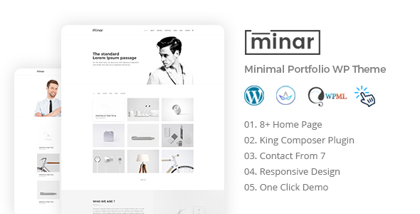Minar - Minimal Portfolio WordPress Theme            TFx Brady Mackenzie